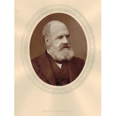 Portrait Photograph of  Armitage, Head and Shoulders, in profile, oval, by Lock and Whitfield.