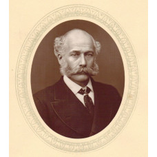Portrait Photograph of Bazalgette, Head and Shoulders, oval,  by Lock and Whitfield.
