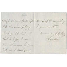 AUTOGRAPH LETTER Signed, 12mo, 3pp, n.p., 17 July 1839,