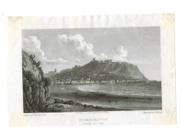 Scarborough Castle and Bay after W. Westall by E. Finden,