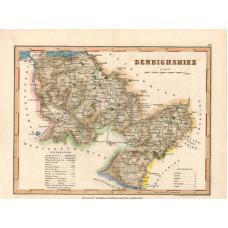 Map. Denbighshire.