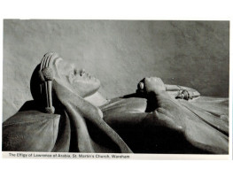 PHOTOGRAPH of head and hands of Kennington's Effigy of Lawrence of Arabia in St Martin's Wareham.