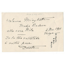 AUTOGRAPH QUOTATION AND SIGNATURE, on headed paper, Venice,