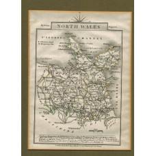 North Wales. Map.