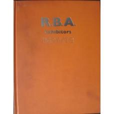 Royal Society of British Artists Members Exhibiting 1824- 1962. R.B.A. Exhibitors. 5 vols.