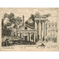 Temple and other classical buildings, Plate '47 F' by Jean-Baptiste Corneille [1646-1695] .
