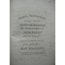 Collection of 54 engraved songs, chiefly Scottish, dating from 1790s-1820s, including 'Yellow-Hair'd Laddie'; 'Roslin Castle'; 'The Bud of the Rose' and others by William Shield; Callcott's 'When Arthur First in Court Began' and 'You Gentlemen of England'