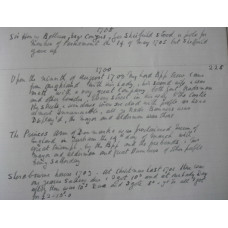 Diary of Jacob Bee of Durham. 1681-1707.