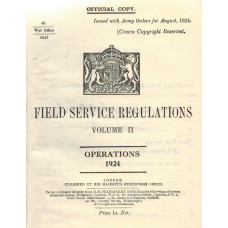 Field Service Regulations Vol. II Operations 1924.