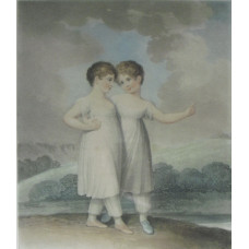 'The Sisters' and 'Brother and Sister' by  Robert Cooper [fl. 1795-1836]