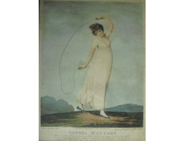 'Sophia Western' Full-Length holding skipping rope, in landscape,  by  Piercy Roberts [fl.1795-1824] and Joseph Constantine Stadler [1780-1819]