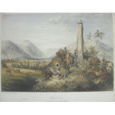 'Pure-Piapa A Remarkable Basaltic Column in Guiana' by Paul Gauci [fl. 1834-1866].