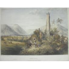 'Pure-Piapa A Remarkable Basaltic Column in Guiana' by Paul Gauci [fl. 1834-1866].