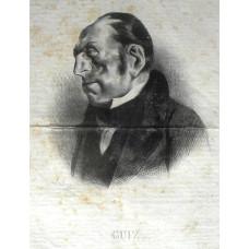 'Guiz'. Head and shoulders caricature of Francois Guizot.