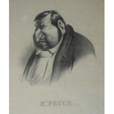 'Mr Fruch'. Head and shoulders caricature of Jean-Marie Fruchard.