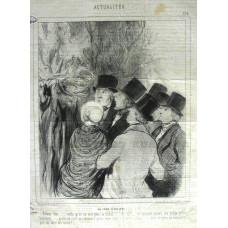 Actualites No.124. 'Un Jour d'Eclipse. Group of people look toward eclipse.