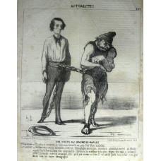 Actualites No.200. 'Une Visite au Bagne de Naples. Mr Gladstone - Et celui-ci comment le nommez-vous? il n a pas l'air d'un scelerat. Le Geolier - Mefiez-vous -en , au contraire; c'est un demagogue, un ancien ministre constituionnel de 1848, appele Carlo