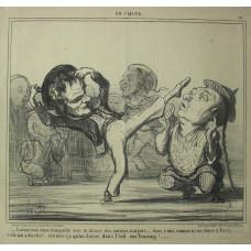 En Chine No. 10. 'Laisse-moi donc tranquille avec ta danse des anciens magots . . . tiens, voici comment on danse a Paris . . . voila qui a du chic! . . . c'est avec ca qu'on donne dans l'oeil aux femmes!' Sailor demonstrating a Parisian dance.