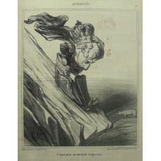 Actualites No. 93. 'S'etant place sur une pente dangereuse' Tsar Nicholas I of Russia careering off cliff