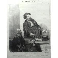 Les Gens de Justice. No. 22. 'Il defend l'orphelin et la veuve, a moins pourtant qu'il n'attaque la veuve et l'orphelin.