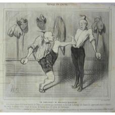 Voyage en Chine No.  17 'Un Complement de Brillante Education'. Pair foot boxing.