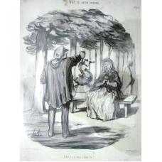 Tout Ce Qu'on Voudra. No. 20 'C'est t'y a vous c'hien la?'. Seated woman shrieks as man holds a dog by tail.