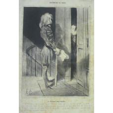 Bohemiens de Paris. No. 11. 'Le Refugie Politique . . .' Exile asks woman for money.