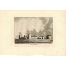 'Flint Castle'  Two different views by Roberts and J. Newton.
