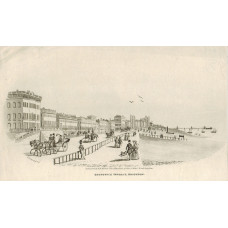 'Brunswick Terrace, Brighton.' Horses and carriages and figures, after C. Derby.