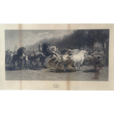 'The Horse Fair', engraved by William Roffe.