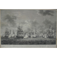 Naval Engagement at Cap-Francais. 'To Capt. Forrest Commander of His Majesty's Ship Augusta, Capt. Suckling of ye Dreadnought, and Capt. Langdon of the Edinburgh This Representation of the Remarkable and Gallant Action, between them and a Squadron of Fren