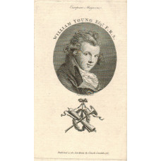 Engraved Portrait of Young Head and Shoulders, oval, by T. Holloway.