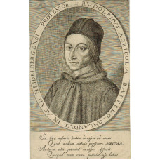Engraved Portrait of Agricola. Head and shoulders with hat, in oval, by Steven van Lamsweerde.