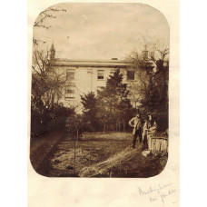 Collection of nine photographs of Buckingham, the church, North End, Market House, Couple in their garden, one showing studio of the photographer L. Varney, etc, some captioned in pencil.
