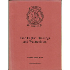 Fine English Drawings and Watercolours. 14 October 1969.
