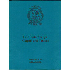 Fine Eastern Rugs, Carpets and Textiles. 10 June 1976.
