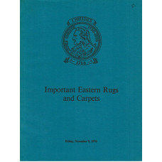 Important Eastern Rugs and Carpets. 5 November 1976.