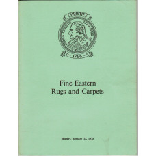 Fine Eastern Rugs and Carpets. 13 January 1975.
