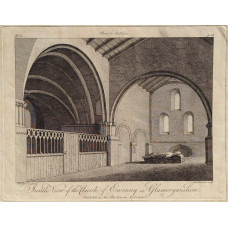 'Inside View of the Church of Ewenny in Glamorganshire' after S.H. Grimm [1733-1794] by Francis Chesham {1749-1806].