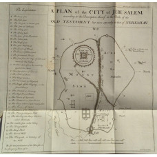 'A Plan of the City of Jerusalem according to the Description thereof in the Books of the Old Testament but more especially in that of Nehemiah'  by Emanuel Bowen.
