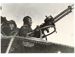 PHOTOGRAPH of Ross Smith in cockpit of Bristol F.2 B Fighter Plane with gunner Mustard.