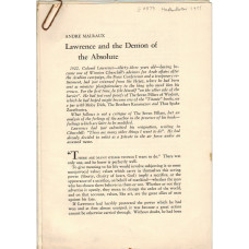 Lawrence and the Demon of the Absolute
