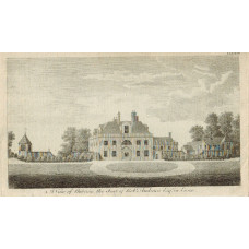 View of  the Country House, A View of Auberies, Seat of Robt. Andrews, Esq.