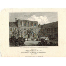 View of  the Country House, The Court Gosfield Hall  Property of the Marquis of Buckingham After J. Grieg by I. Ranson.