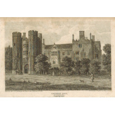 View of  the Country House, Catledge Hall, as it stood in 1800, after J.R. Thompson by J. Byrne.