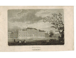 View of  the Country House, Wimpole, after F. Nash by J. Noble.