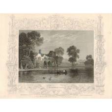 """""""Medmenham Abbey"""" with decorative border,after W. Tombleson, by J. Tingle."""