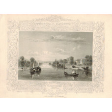 """""""Fawley Court Henley"""" with decorative border,after W. Tombleson, by H. Winkles."""
