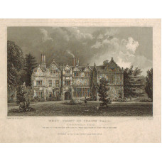 View of  the Country House, West Front of Spains Hall Finchingfield The Seat of John Ruggles Brice After W. Bartlett by J. Rogers.