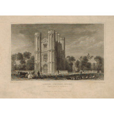 View of  the Country House, Leigh Priory After W. Bartlett by E. Young.